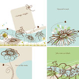 Invitation set Royalty Free Stock Images