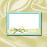 Invitation on silk Stock Photos