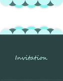 Invitation with special design Royalty Free Stock Photography