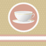 Invitation for tea time Stock Image