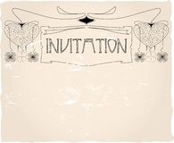 Invitation template, Royalty Free Stock Photos