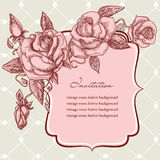 Invitation template Stock Image