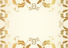 Certificate / Diploma award template. Pattern. Certificate, Diploma of completion (design template, background). Gold Floral (scroll, swirl) pattern (watermark Royalty Free Stock Photo