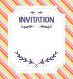 Invitation template Royalty Free Stock Photos