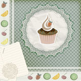 invitation template with cupcake Royalty Free Stock Photo