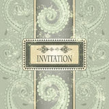 Invitation template, eastern  pattern Stock Photography