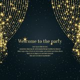 Invitation template for the event. Background open curtain. Royalty Free Stock Photos