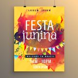 Invitation template for festa junina festival design Royalty Free Stock Image