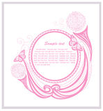 Invitation template with floral elements Stock Photography