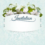 Invitation template with flowers Royalty Free Stock Photography