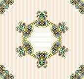 Invitation template ornamental Stock Photography