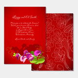 Invitation template on tropical party Royalty Free Stock Images