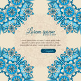Invitation template vintage flowers lace ornament Stock Images