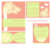 Invitation templates set Stock Photo