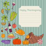 Invitation for Thanksgiving dinner. Card for thanksgiving day. Autumn background. Perfect for greeting card or invitation for Thanksgiving Stock Image