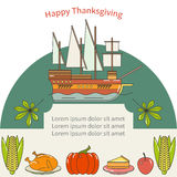 Invitation for Thanksgiving dinner. Card for thanksgiving day. Autumn background. Perfect for greeting card or invitation for Thanksgiving Stock Photography