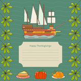Invitation for Thanksgiving dinner. Card for thanksgiving day. Autumn background. Perfect for greeting card or invitation for Thanksgiving Royalty Free Stock Images