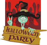 Invitation To A Halloween Party Royalty Free Stock Photos