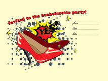 The invitation to the bachelorette party.. Design fun invitations for a bachelorette party Stock Photos