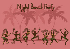 Invitation to a beach party Stock Photos