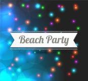 Invitation to Beach party Stock Photos
