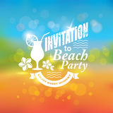 Invitation to beach party. Stock Photos
