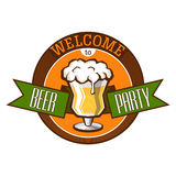 Invitation_to_beer_party. Easily editable and well organized vector illustration for usage in any materials associated with the beer party. You can use it as an royalty free illustration