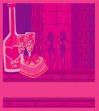 Birthday Cocktail Party. Invitation To Birthday Cocktail Party,  illustration Stock Image