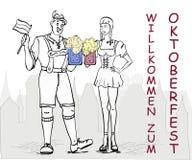 Invitation to celebrate Oktoberfest royalty free illustration