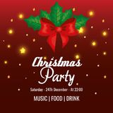Invitation to Christmas party. Vector illustration design Royalty Free Stock Photography