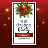 Invitation to Christmas party. Vector illustration design Stock Images