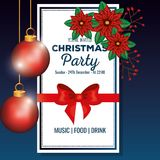 Invitation to Christmas party. Vector illustration design Stock Photography