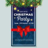 Invitation to Christmas party. Vector illustration design Royalty Free Stock Photos