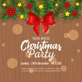 Invitation to Christmas party. Vector illustration design Royalty Free Stock Image