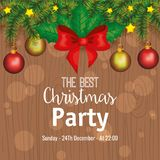 Invitation to Christmas party. Vector illustration design Royalty Free Stock Photo