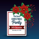 Invitation to Christmas party. Vector illustration design Royalty Free Stock Images