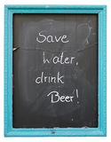 Invitation to drink beer Royalty Free Stock Images