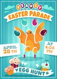 Invitation to the Easter holiday to the Easter royalty free illustration