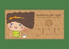 Invitation to girls ` night. Royalty Free Stock Photography