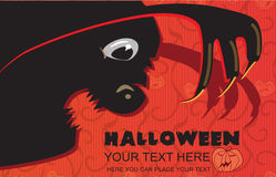 Invitation to halloween Stock Images