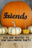 Invitation to Halloween Party Stock Photo