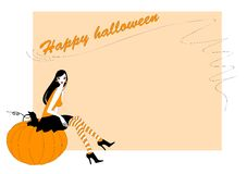 Invitation to halloween party Royalty Free Stock Images