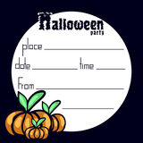 Invitation to a halloween party Royalty Free Stock Photography