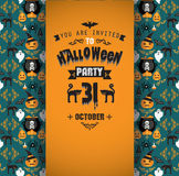 Invitation to Halloween party. Royalty Free Stock Photography