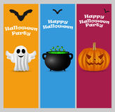 Invitation to a Halloween party Stock Photos