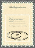 Invitation to the Huppah. Beige invitation to a Jewish wedding Stock Images