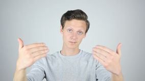 Invitation to Join, inviting to Come, Isolated Gesture by Young Man. High quality Stock Images