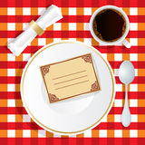 Invitation to lunch Royalty Free Stock Image