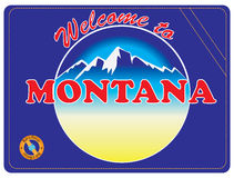 Invitation to Montana Royalty Free Stock Photography