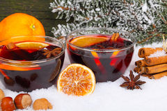 Invitation to mulled wine Royalty Free Stock Images